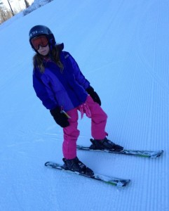 My littlest snow bunny...  She was slow to start, but then we couldn't get her off the slopes!