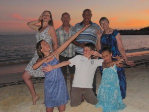 Silly family photos in the Dominican...