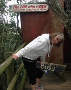 "Not many can say they have been to the longest ""long drop"" (outhouse) in Africa!  But mom can!! ;-)"