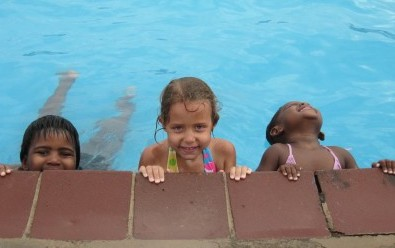 Growing up in a tropical place, pools are plentiful!