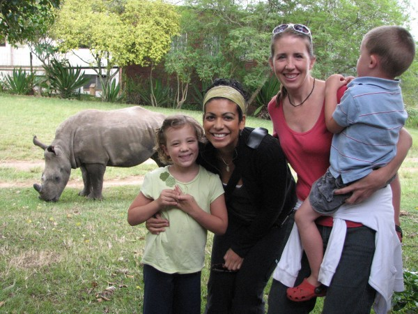 When you live in Africa, rhinos wander into your back yards....  just kidding. :-)