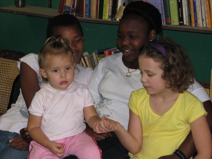 Mandisa and Sbahle loving on my girls....