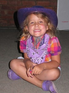 Our little cowgirl...