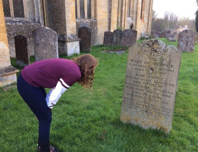 Marae shares my love of old graveyards!  We found many in the English villages.