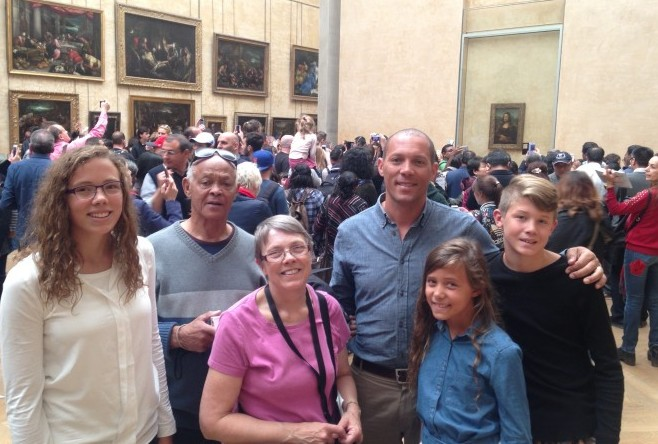 We had to push through all those crowds to get close enough to see the Mona Lisa!  Crazy!