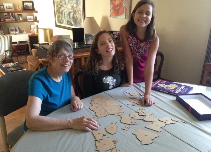 Teaching Nan all about the continent of Africa!