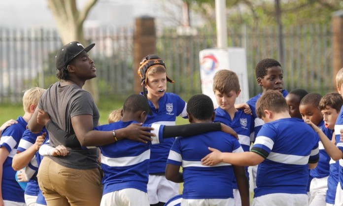 Nate's rugby team in SA